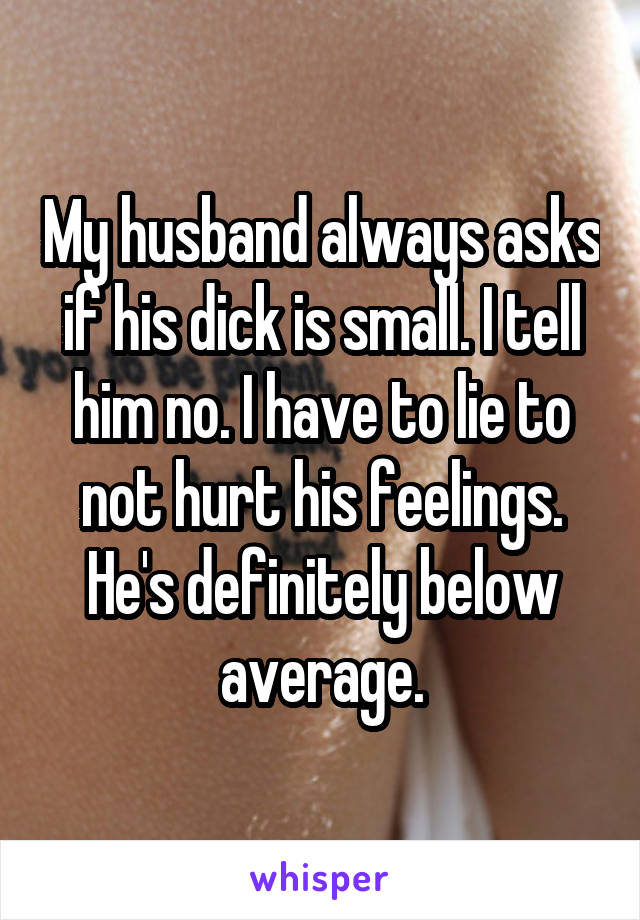 Husband small dick pictures