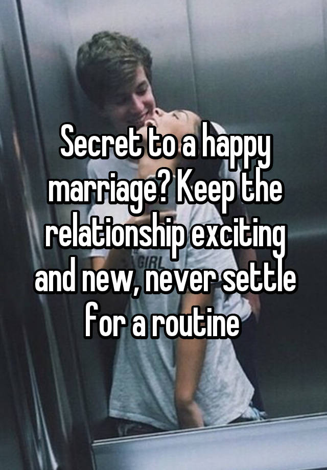 When share your secret new relationship