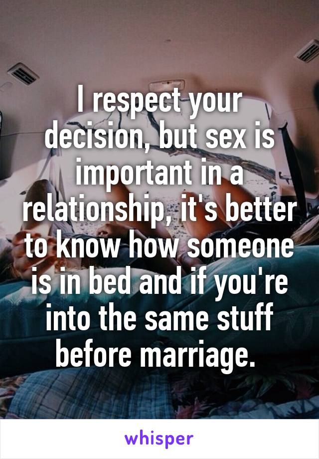 In Is A Relationship Sex Important