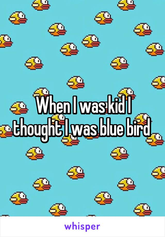 When I was kid I thought I was blue bird