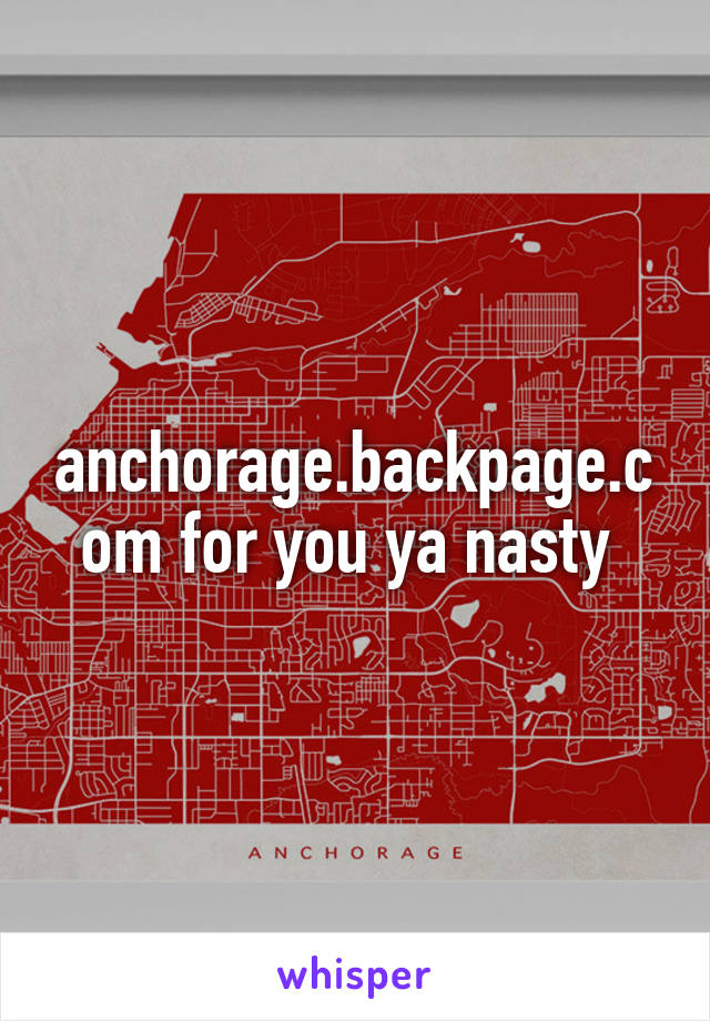 Backpage com anchorage