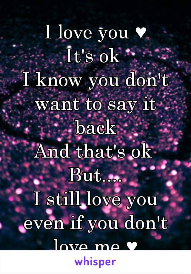i know i know i want you