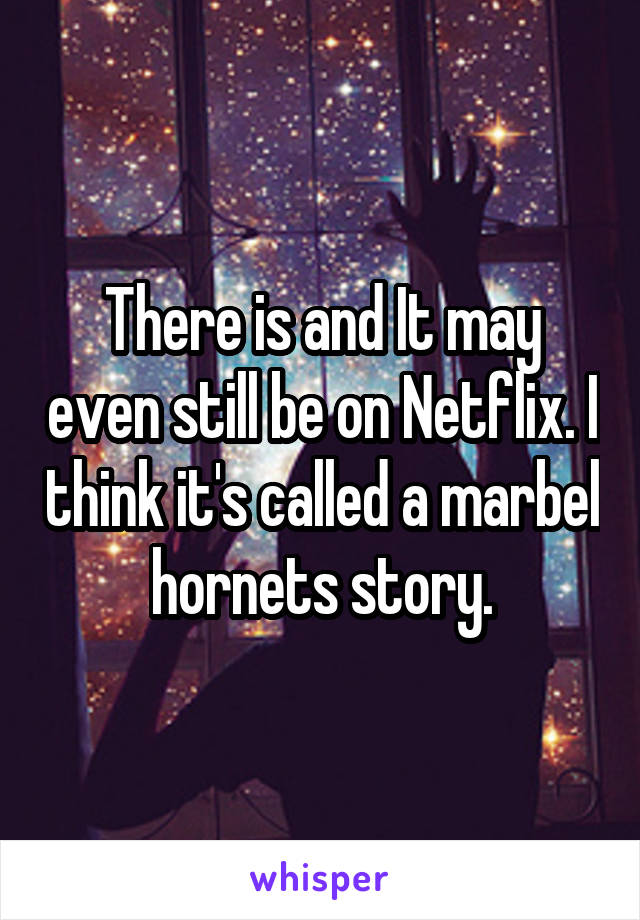 There is and It may even still be on Netflix. I think it's called a marbel hornets story.