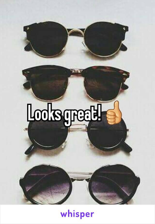 Looks great!👍
