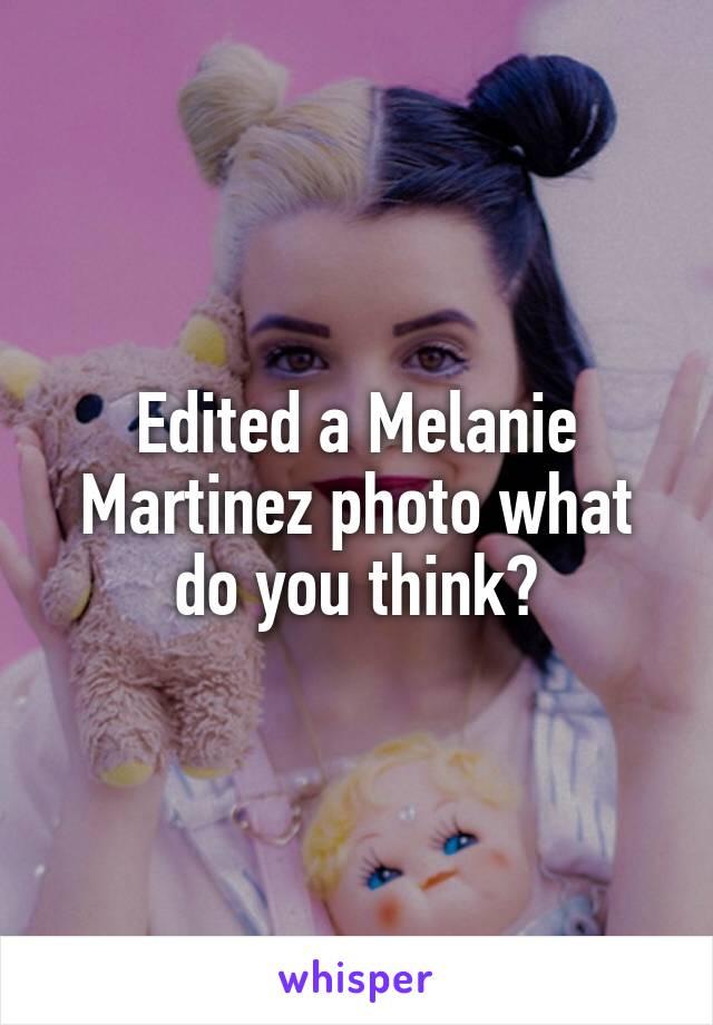 Edited a Melanie Martinez photo what do you think?