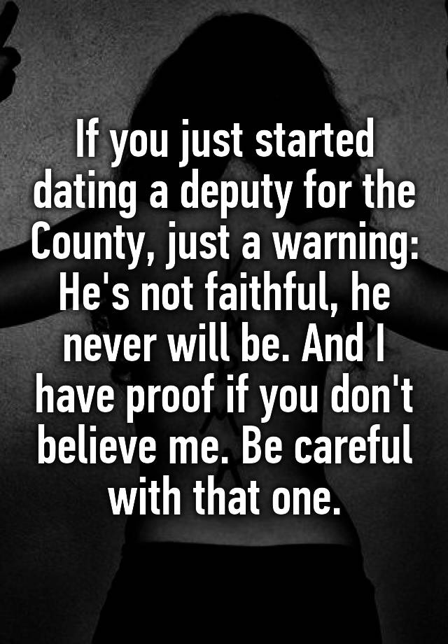 dating a deputy