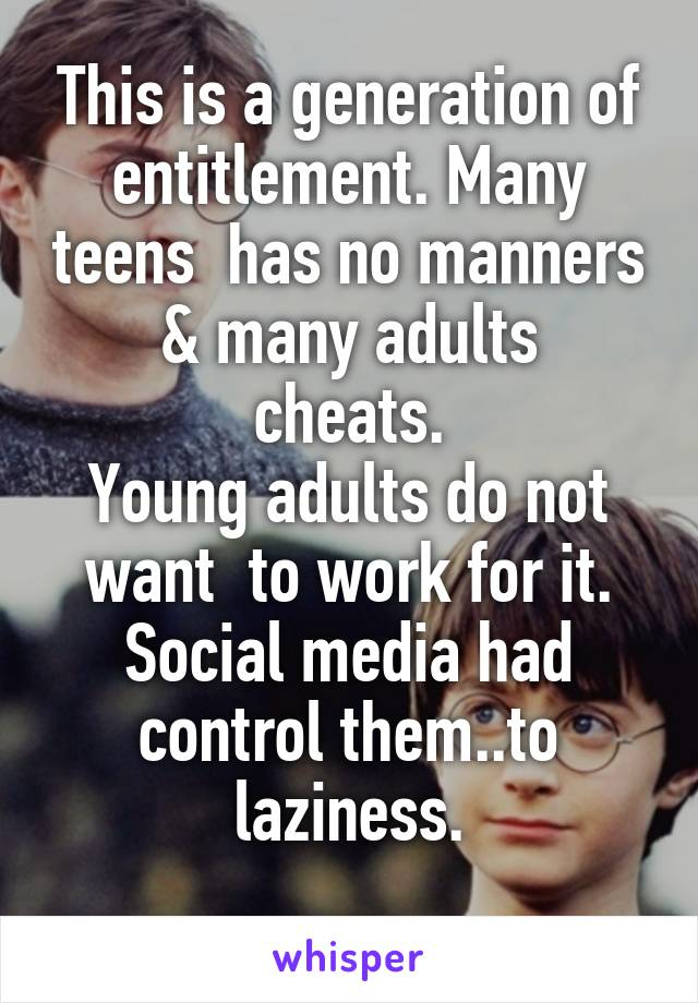 Why teens have no manners