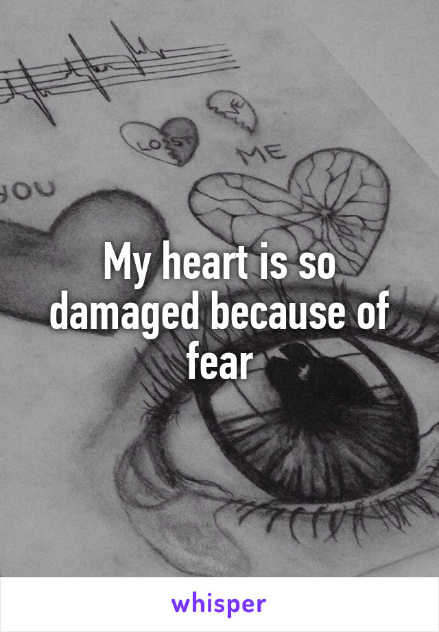 My heart is so damaged because of fear