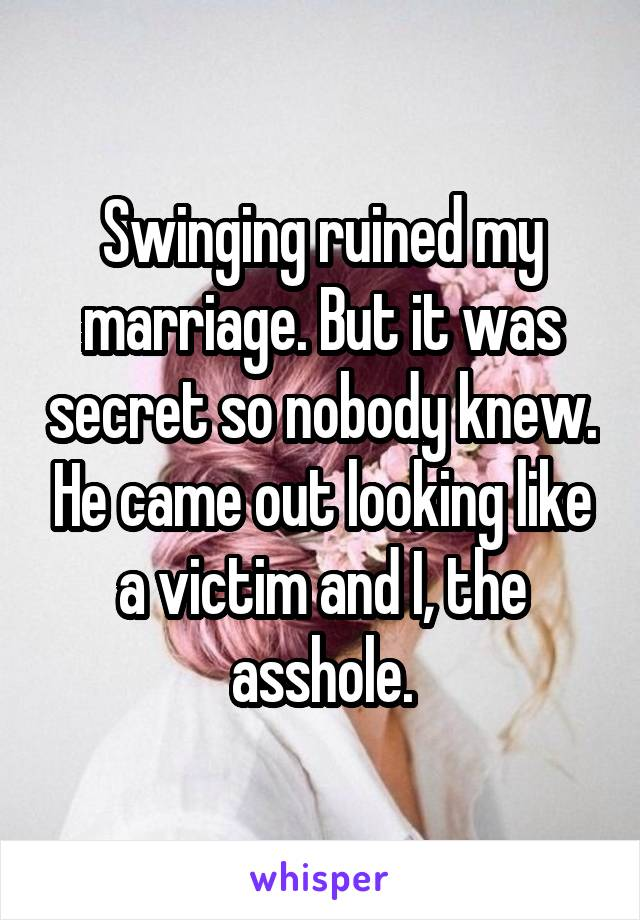 Assured, Can swinging help my marriage what phrase