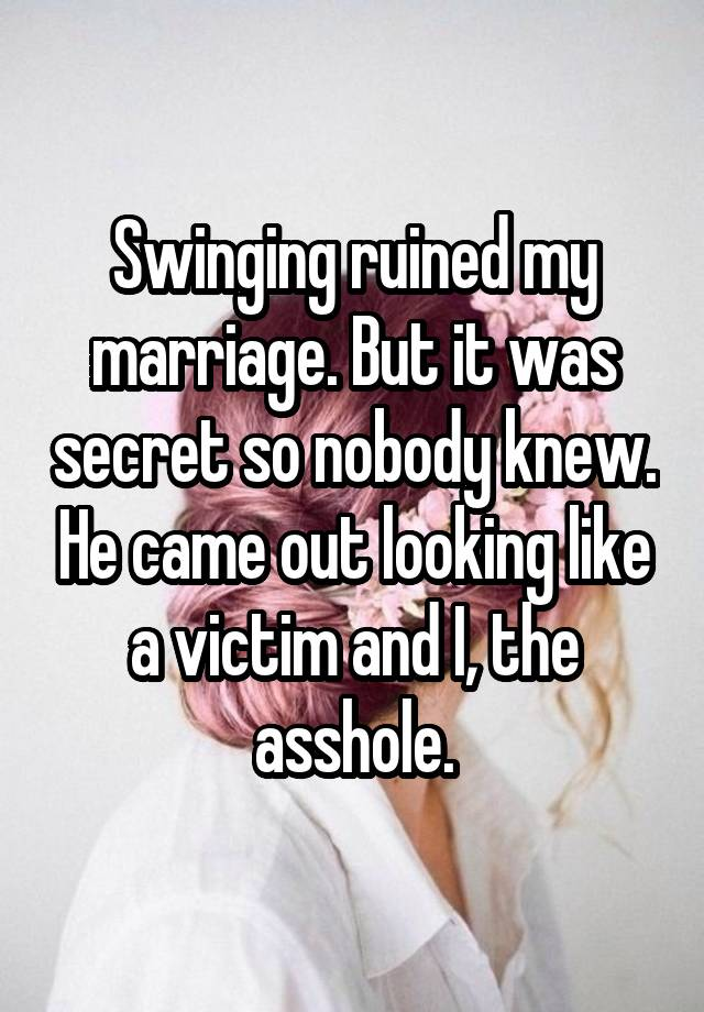 Advise you Can swinging help my marriage amusing question