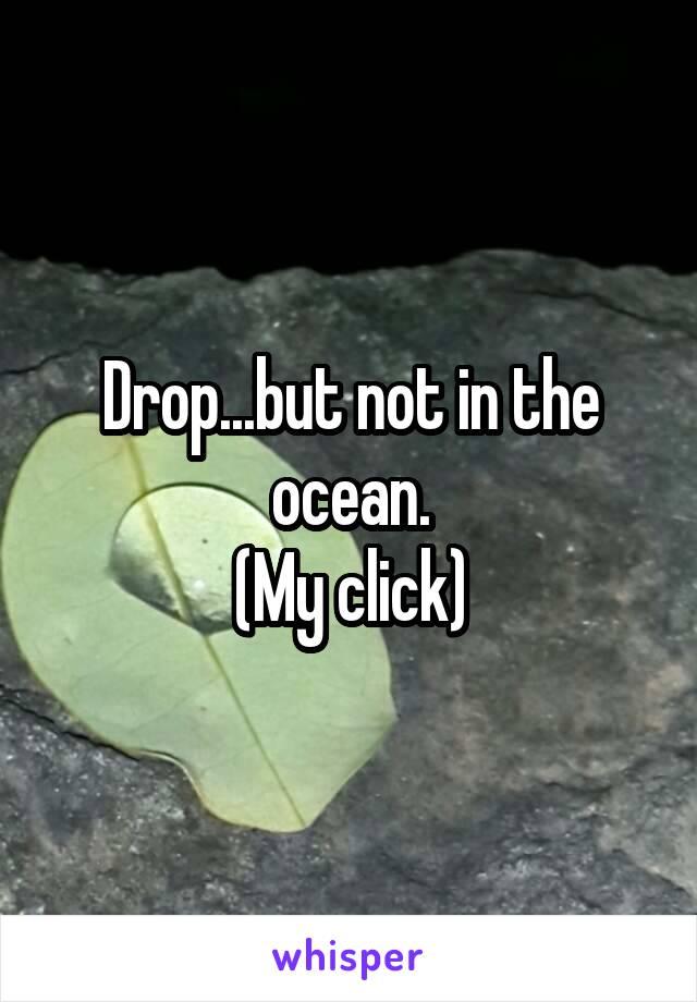Drop...but not in the ocean. (My click)