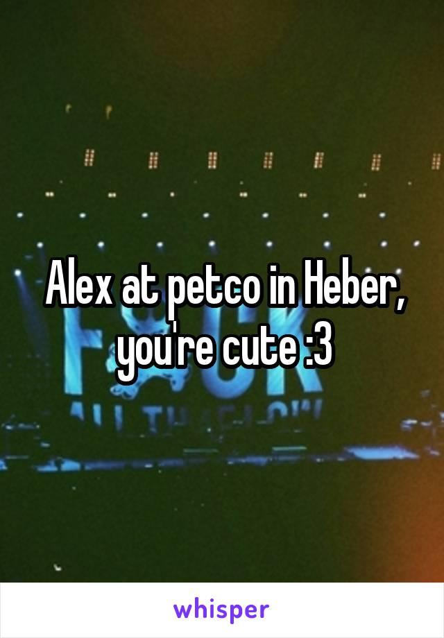 Alex at petco in Heber, you're cute :3
