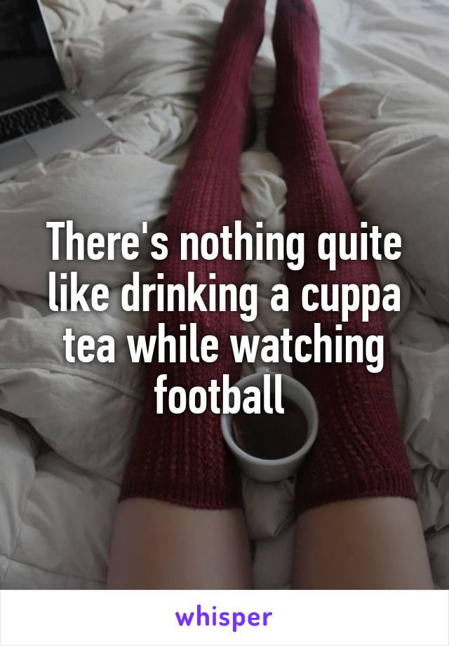 There's nothing quite like drinking a cuppa tea while watching football