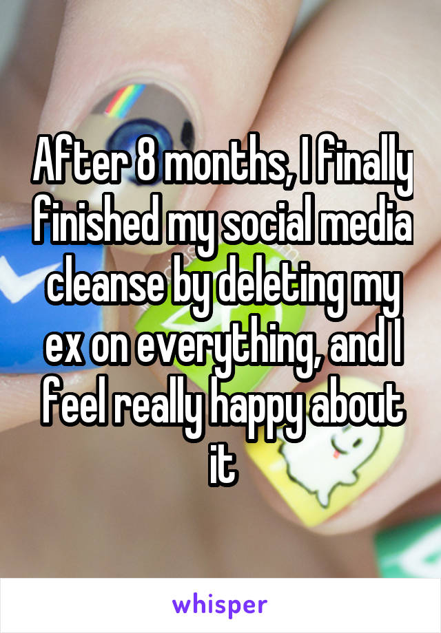 After 8 months, I finally finished my social media cleanse by