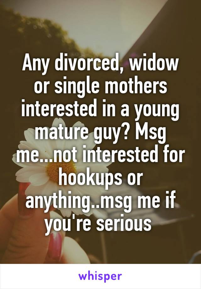 Hookup after divorce or being widowed can