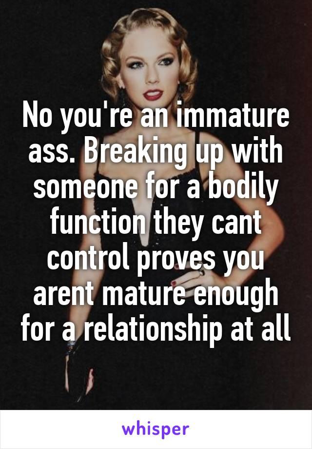 Breaking mature ass