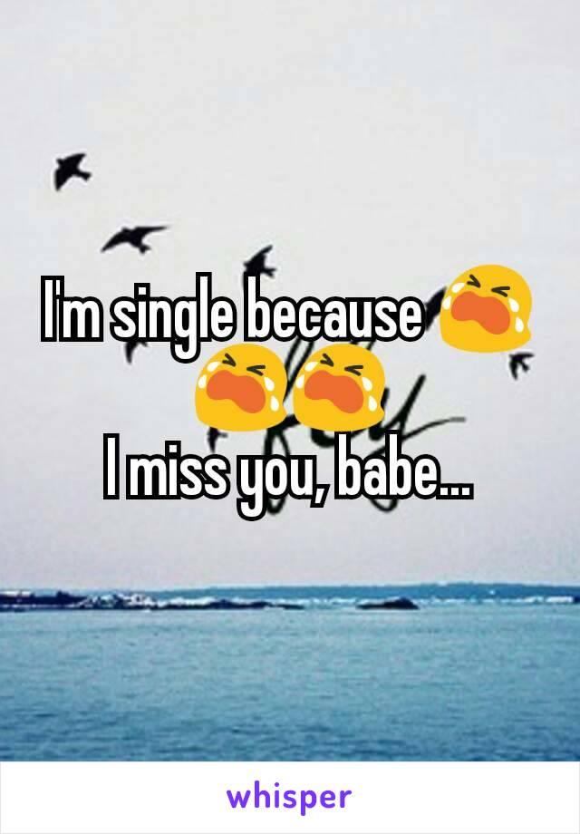 I'm single because 😭😭😭 I miss you, babe...