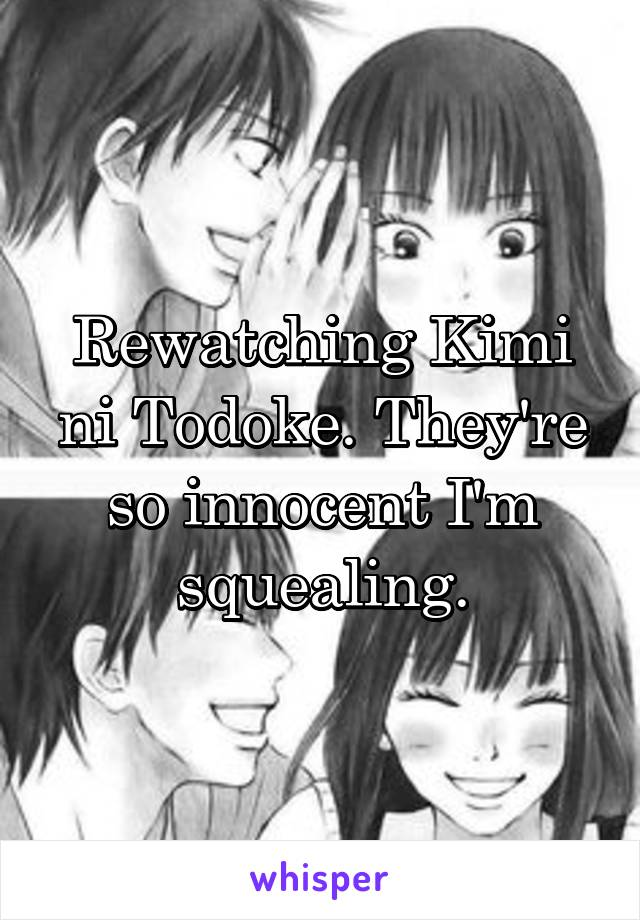 Rewatching Kimi ni Todoke. They're so innocent I'm squealing.