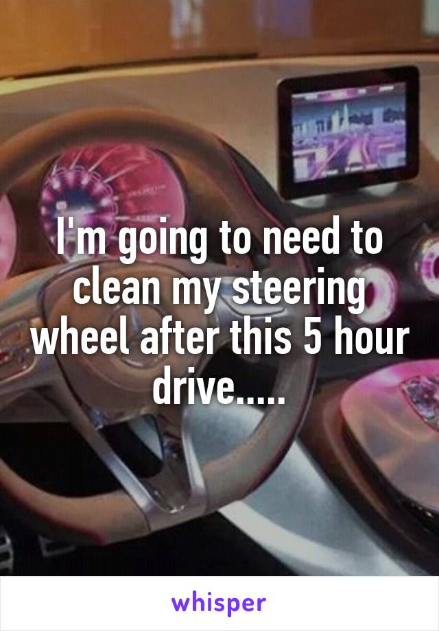 I'm going to need to clean my steering wheel after this 5 hour drive.....