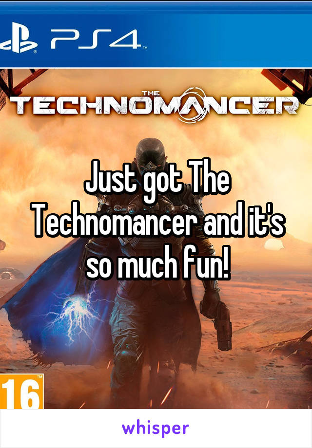 Just got The Technomancer and it's so much fun!