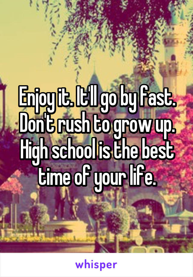school days are the best days of your life essay You always hear this cliche bounded about but is it really true i guess you can answer this once you have been at school for a good few years but bette.