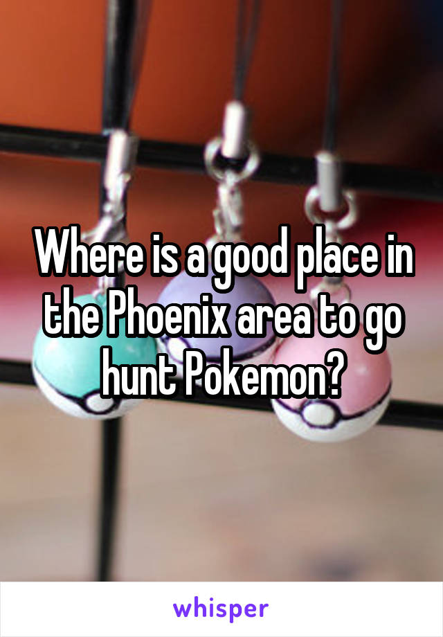 Where is a good place in the Phoenix area to go hunt Pokemon?