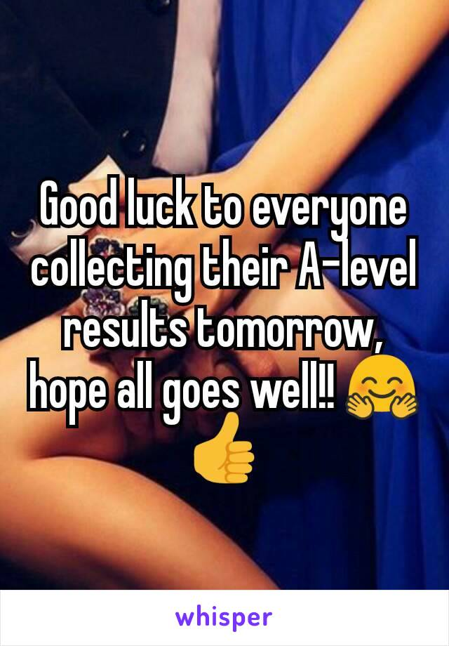 Good luck to everyone collecting their A-level results tomorrow, hope all goes well!! 🤗👍