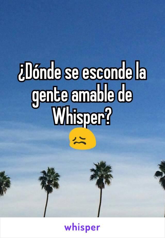 ¿Dónde se esconde la gente amable de Whisper? 😖
