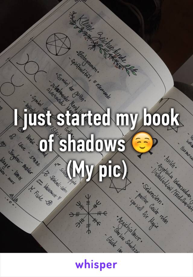 I just started my book of shadows ☺️ (My pic)
