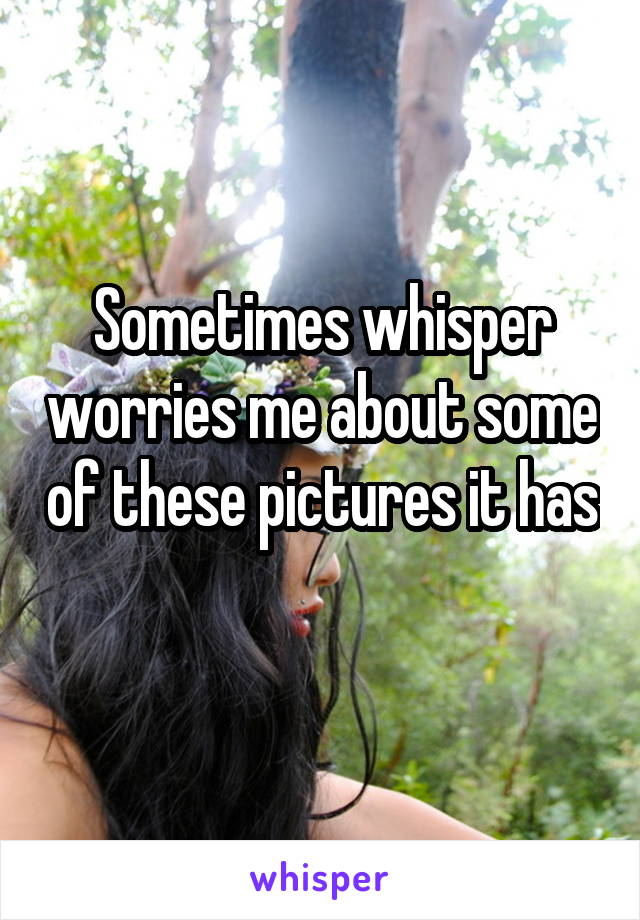 Sometimes whisper worries me about some of these pictures it has
