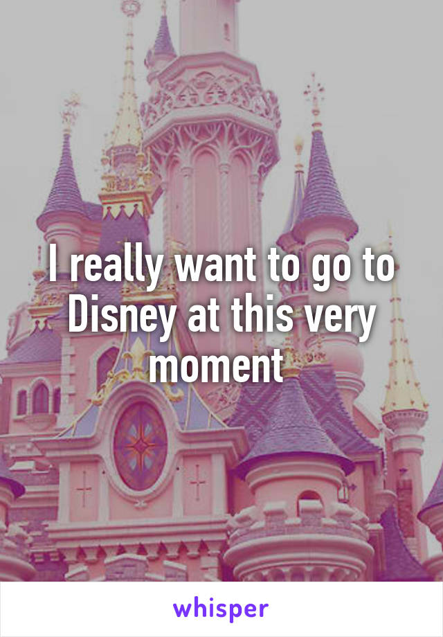 I really want to go to Disney at this very moment