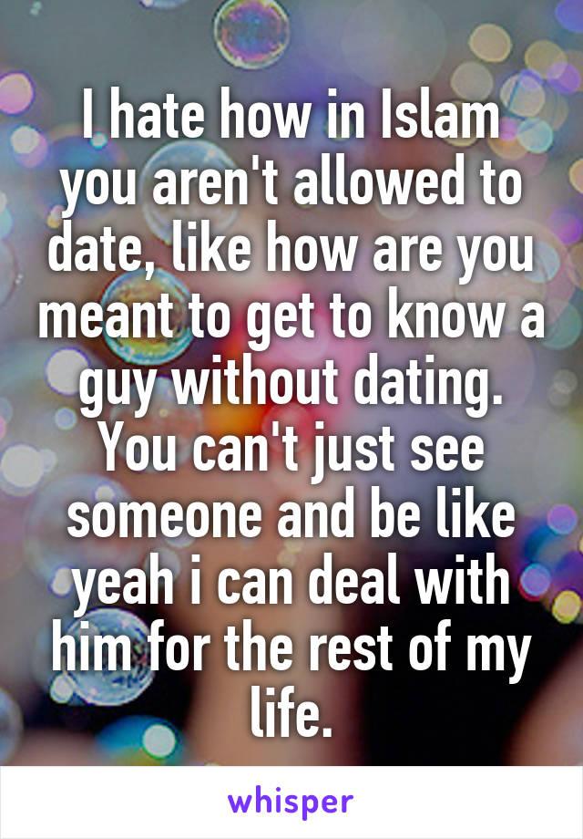 dating islam allowed