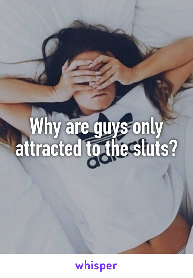 Why are guys only attracted to the sluts?