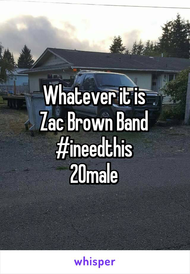 Whatever it is  Zac Brown Band  #ineedthis  20male