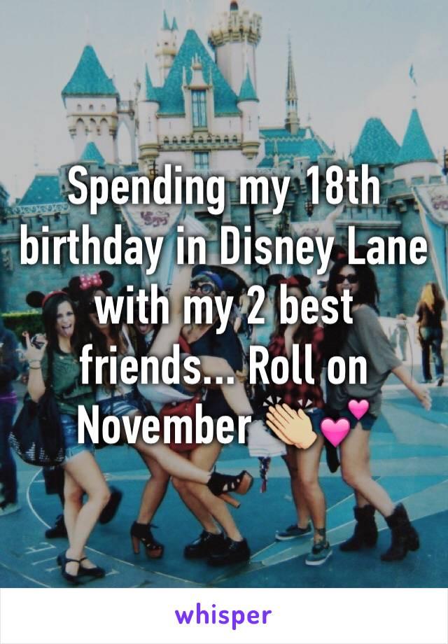 Spending my 18th birthday in Disney Lane with my 2 best friends... Roll on November 👏🏼💕