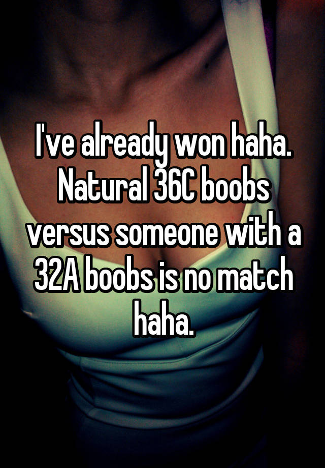 Natural 36c boobs