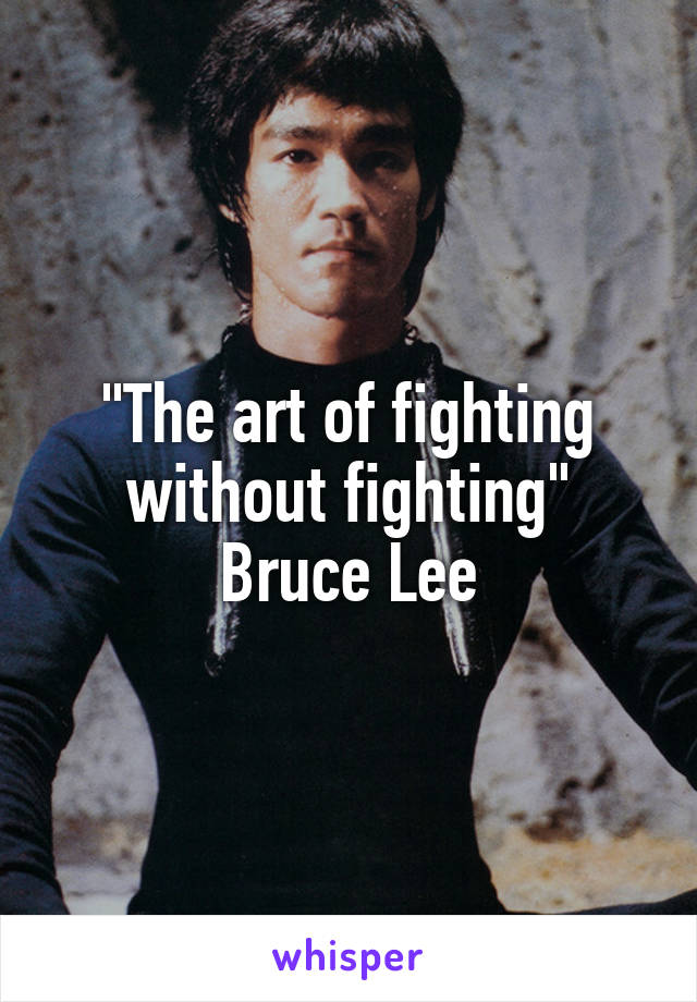 The Art Of Fighting Without Fighting Bruce Lee