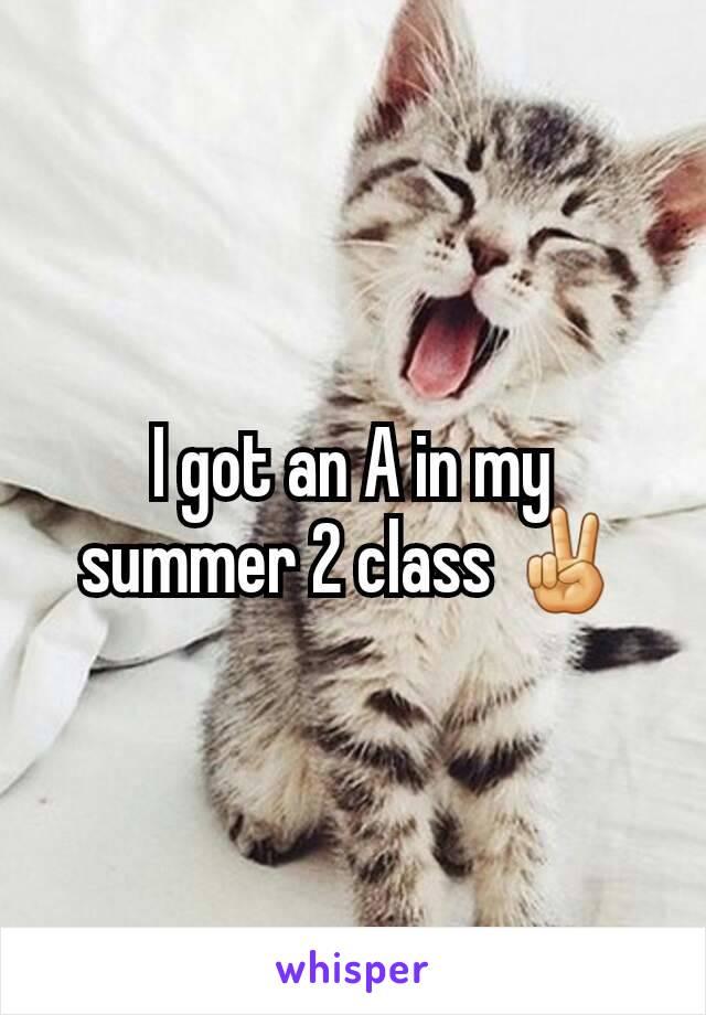 I got an A in my summer 2 class ✌
