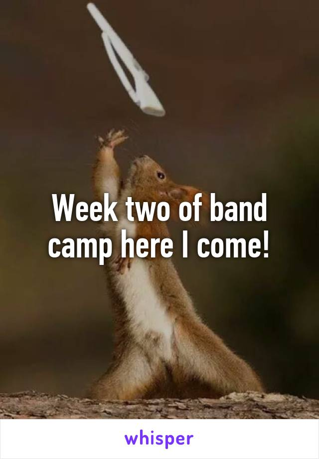 Week two of band camp here I come!