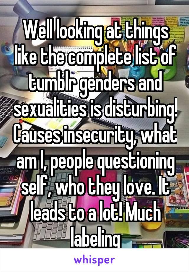List of sexualitites