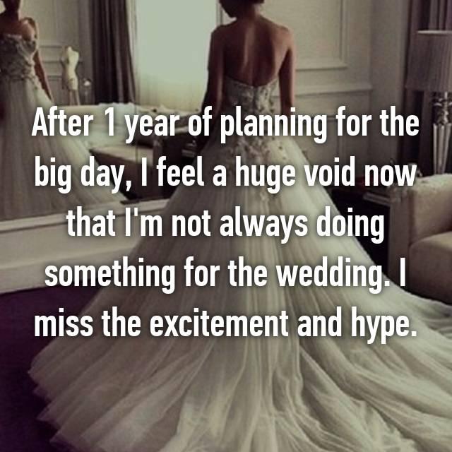 Post wedding depression parents