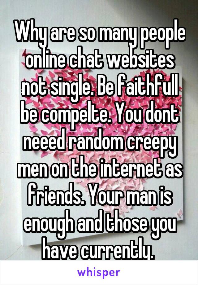 single man online chat