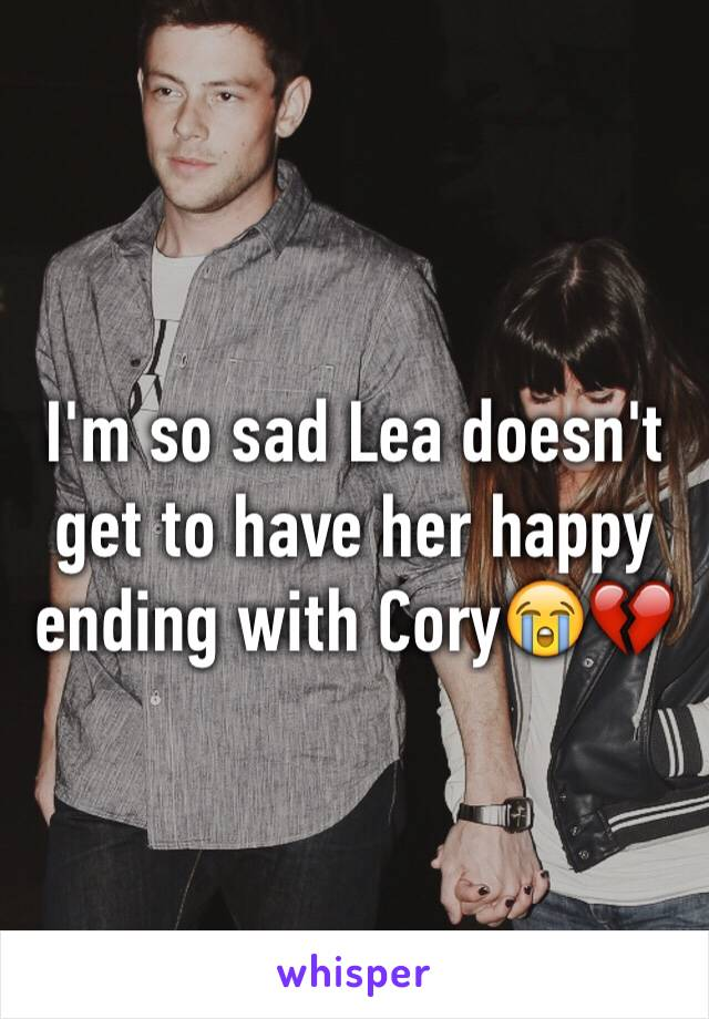 I'm so sad Lea doesn't get to have her happy ending with Cory😭💔