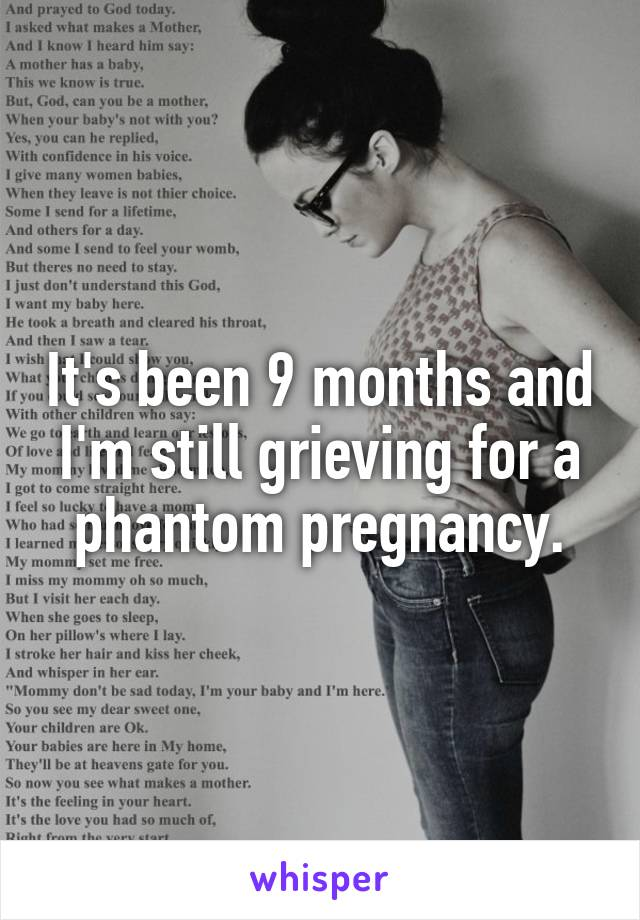 It's been 9 months and I'm still grieving for a phantom pregnancy.