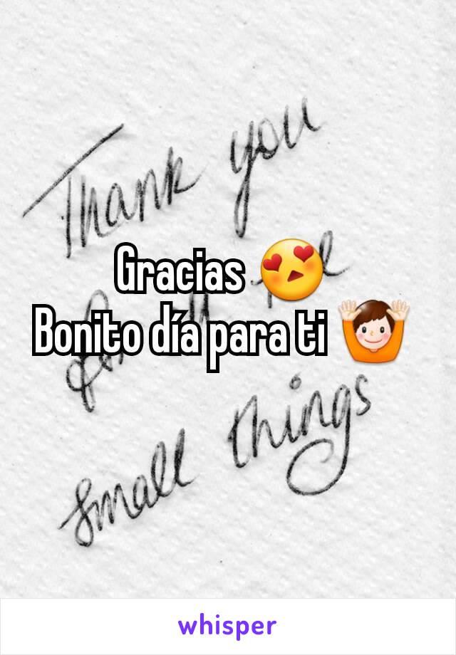Gracias Bonito Día Para Ti