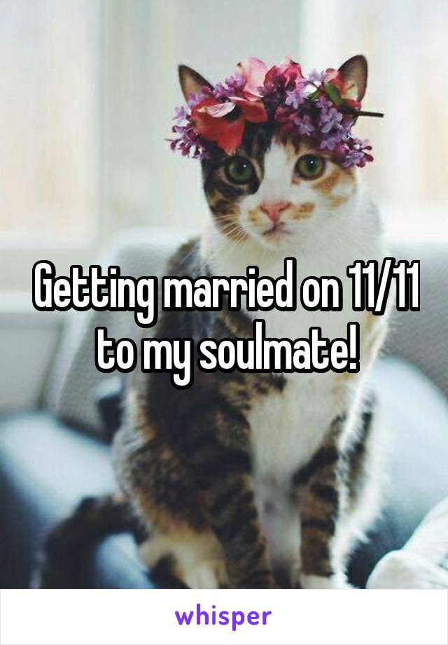 Getting married on 11/11 to my soulmate!