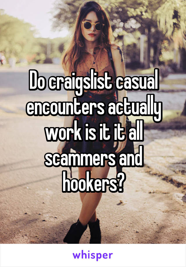 Craigslist casual encounters scam