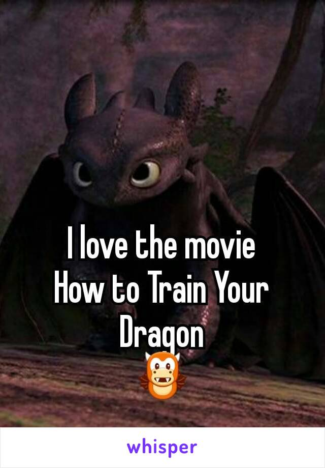 I love the movie How to Train Your Dragon 🐲
