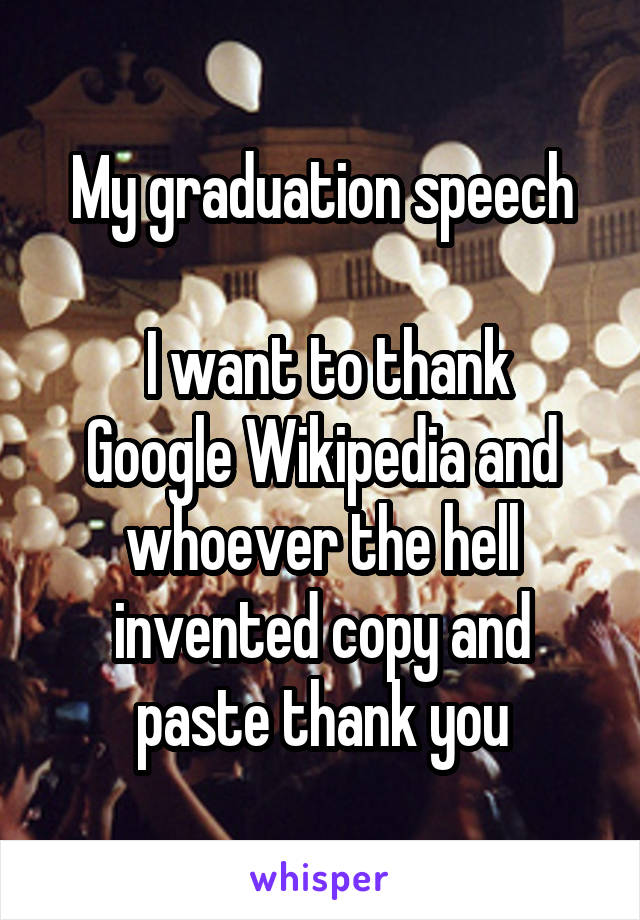 google graduation speech