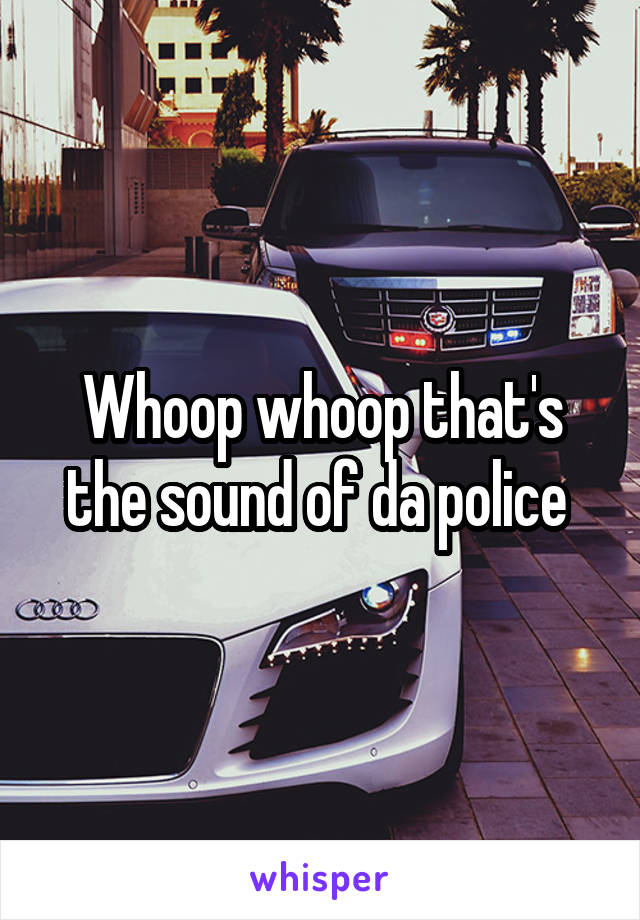Whoop whoop that's the sound of da police